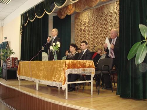 Президія святкових зборів з нагоди Міжнародного жіночого дня.