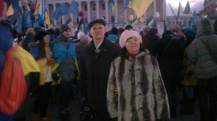 Члени правління КМО УТОС на Євромайдані